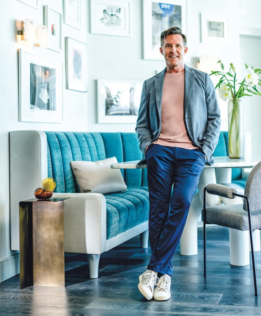 Interior designer Mike Stake has pivoted his business in major ways these last few months, but his approach to aesthetics is as chic as ever. PORTRAIT BY NICK GARCIA